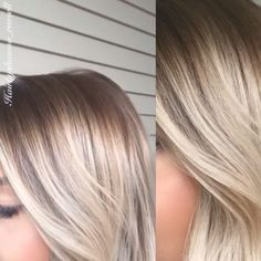 """#btcmorningquickie! """"The great thing about balayage, ombre, babylights,shadow root ,rooty blondes?.. Is the soft blend and no demarcation line from traditional foiled highlights(still love traditional highlights ) way less maintenance tho with these other techniques, looks more natural, soft blend in the transition. With this Color she previously had a solid bleached blonde, I went in with babylights over whole head the inbetween foils I reversed ombre to blend the demarcation line,and…"""