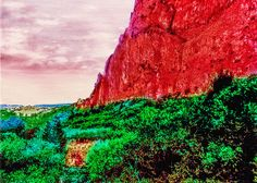 Title  Garden Of The Gods Climbing Wall   Artist  Nadine and Bob Johnston   Medium  Photograph - Digital Art Paintings - Canvas & Prints. Summer Special: Greeting Or Note Cards @ Our Cost - Save Even More 10 Or 25 Packs