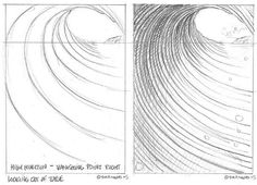 Cartoon Drawing Techniques King of Kooks' Missives to His Subjects: How to Draw a Cartoon Wave Surf Drawing, Ocean Drawing, Drawing Lessons, Drawing Techniques, Cartoon Drawings, Art Drawings, Wave Art, Surf Art, Ocean Waves