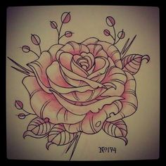 Tattoo Inspiration – lefty-laura: No. 174 rose Tattoo Inspiration – lefty-laura: No. Tattoo Drawings Tumblr, Tattoo Designs Tumblr, Best Tattoo Designs, Flower Tattoo Designs, Tattoo Sketches, Flower Designs, Dream Tattoos, Love Tattoos, Tattoo You