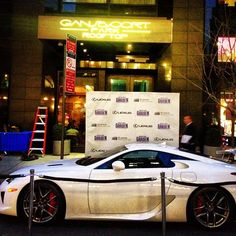 We're getting ready for our #MSG x #Lexus event tonight with the guest of the hour - a brand new LFA.