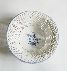 Portuguese Pottery Latticework Bowl Blue and by BlueHeronBungalow, $29.99
