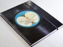 Notizbuch Schallplatte Beatles upcycling