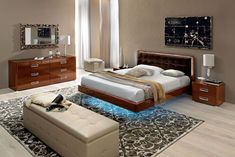 Made in Italy Leather High End Bedroom Furniture Sets feat Blue Light Springfield Massachusetts ESFSKY
