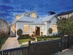 Katrina from The Block : The Blog - Weatherboard love, sail down porch, fretwork and dormers - need I say more!