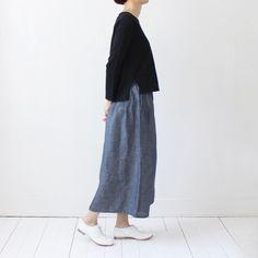 Evam Eva / Dry Cotton Slit Pullover / Black / - taste&touch ウェブショップ