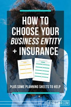Choose your business entity and your business insurance the right way!