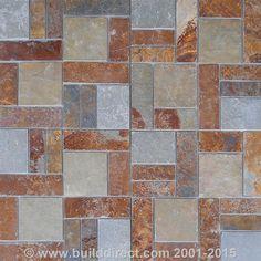 Slate Tile - Meshed Back Patterns - Autumn Blend