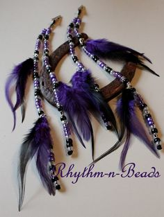 American Indian Style Horse Costume Colorful Beaded Turkey Feather Equine Mane Bead wrapped feathers Tail or Hair Ornament