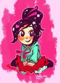 "miss-azura: "" Drew the little rascal before heading to bed! Disney Fan Art, Disney Pixar, Disney Characters, Fictional Characters, Chibi, Vanellope Von Schweetz, Desenhos Gravity Falls, Wreck It Ralph, Dreamworks"