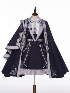 Old Fashion Dresses, Fashion Outfits, Kawaii Dress, Fashion Design Drawings, Lolita Dress, Gothic Lolita, Lolita Fashion, Costume Design, Pretty Dresses