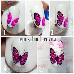 Вот такая бабочка у меня сегодня получилась)))) Для подмалевка я использовала…