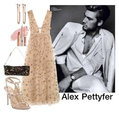"""""""Alex Pettyfer"""" by yosei-no-megami ❤ liked on Polyvore featuring Valentino, Jane Iredale, Dolce Vita, formal, valentino, gown, Actor and AlexPettyfer"""