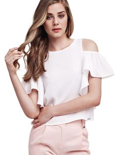 EUR59.90$  Watch now - http://viqfs.justgood.pw/vig/item.php?t=k4wre218123 - OFF-THE-SHOULDER TOP