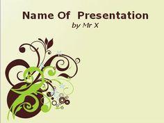 Brown Blooming Pattern Powerpoint Presentation Template