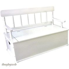 Levels Of Discovery LOD33057 Kids Simply Classic White Bench Toy Box Chest NEW