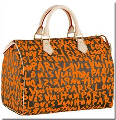 Louis Vuitton Orange Graffiti Print >> Perfect for carrying around your ballpark necessities #sfgiants