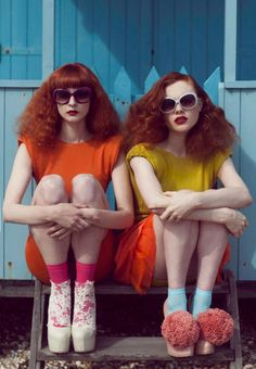 Georgie & Anna for Material Girl Magazine.