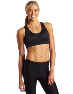 Saucony Women's Motion Sensor Bra, Black,  BEST damn running bra ever.  EVER.