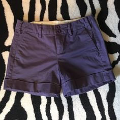 """Anthropologie purple shorts Adorable purple shorts. Paper Boy brand from Anthropologie. Size 2. In excellent preloved condition with no stains or tears. Fold over is sewn in making these an approx 4 1/2"""" inseam. 98% cotton, 2% spandex. Anthropologie Shorts"""