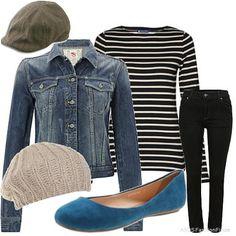 black jeans + teal shoes