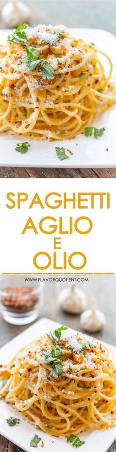 Spaghetti Aglio E Olio is a classic Italian pasta dish which simply means spaghetti in garlic and olive oil and that's it! It's a real wonder and you will know why! #Spaghetti #AglioEOlio #Pasta #ItalianCuisine #ItalianFood #ClassicItalianPasta #PastaRecipes #FlacorQuotient