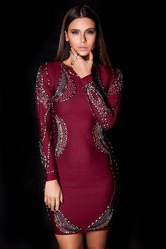 Vestido Bandagem Bordado  #lançamentogaia #gaia #linhafesta #inverno15 #bandagem #vestidobandagem #dresstoimpress #fashion #ootn #modamineira #lavibh