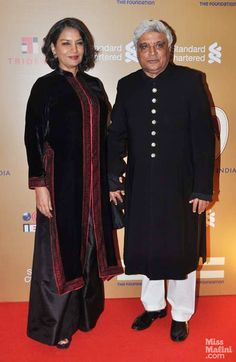 Shabana Azmi with husband Javed Akhter