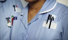 Close-up of NHS nurse...1% pay rise.....that's what George Orwell would expect.....what are the MP's getting.......?...