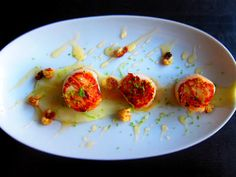 scallops with cauliflower and lime gastrique    Stainless Steel Thumb: zesting up winter