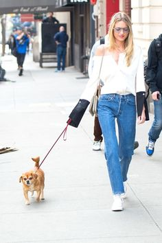 Martha Hunt Has the Answer to the Perfect Off-Duty Spring Look via @WhoWhatWear
