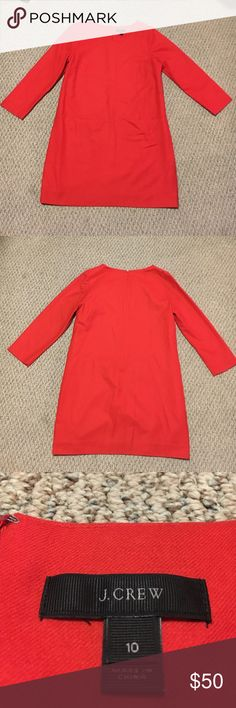 J Crew Long Sleeved Dress with Pockets 97% wool, 3% spandex. Perfect winter dress with pockets. Excellent condition. J. Crew Dresses Long Sleeve