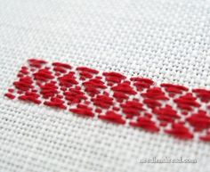 Tutorial: Pattern darning – Needle Work