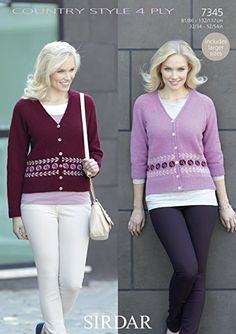 Sirdar 7345 Cardigan knitted in Ply weight yarn. For adults. Crochet Yarn, Knitting Yarn, Yarn For Sale, Fair Isle Pattern, Lang Yarns, Plymouth Yarn, Dress Gloves, Paintbox Yarn, Red Heart Yarn