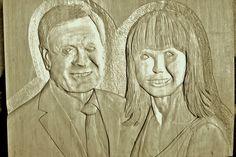 Manželský pár z Ameriky,lipa 40x30cm