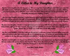Letter to my Daughter by ZandKfan4ever57