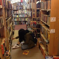 Where we all want to be -- in a used bookstore browsing to our heart's or wallet's content.