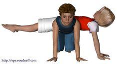 Pyramides et figures d'acrosport en 3D - *Acrosport en primaire - Duos d'acrosport en primaire
