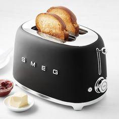 Smeg Toaster, Bread Toaster, Black Toaster, Writing Studio, Breakfast Sandwich Recipes, Grey Flooring, Black Kitchens, Williams Sonoma, New Kitchen