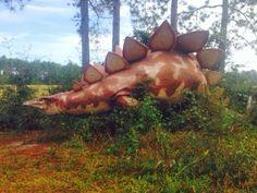 Raised Southern : Dinosaurs in the woods - Elberta, AL