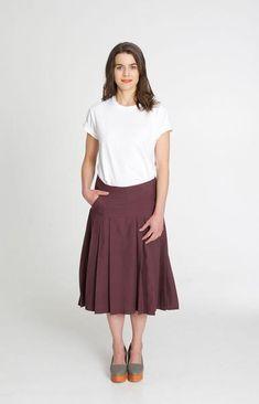 Row Skirt Burgundy