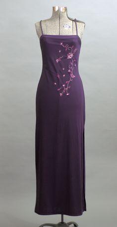 Vintage 1990 Long Purple Dreams Cocktail Dress