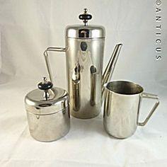 Art Deco Coffee Service, Silver Plate.