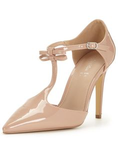 Beau T-Bar Bow Patent Shoe