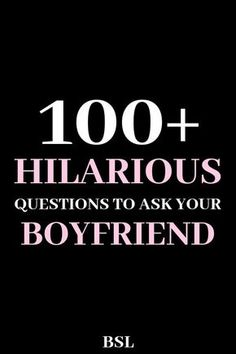 100 Funny Questions To Ask A Guy Want to make your guy laugh? These 100 funny questions to ask a guy will give you hours of hilarious laughs with your man. Weird Questions To Ask, Questions To Get To Know Someone, Questions To Ask Your Boyfriend, Would You Rather Questions, Getting To Know Someone, Deep Questions, Interesting Questions To Ask, Dating Questions, Random Funny Questions