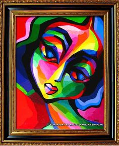 abstract nude paintings | ... portrait painting by artist Martina Shapiro, abstract female figure