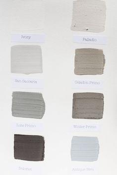 Kalklitir - Color Sample Cards #1 ...   Komedal Road . . .