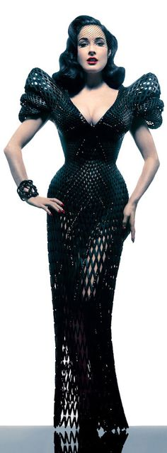 3D Printed Dress for Dita Von Teese On a separate but related note, I want her body!