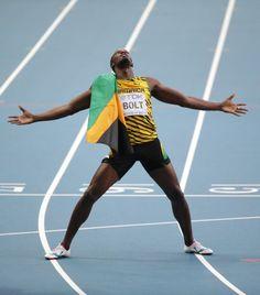 Bei der Leichtathletik-WM in Moskau ist Sprinter  Usain Bolt  der große Star:...