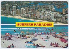 Genre:  postcard Year Created:  c1970-2000 Contributor:  Murray Views Collection Gold Coast, Paradise, Collection, Heaven